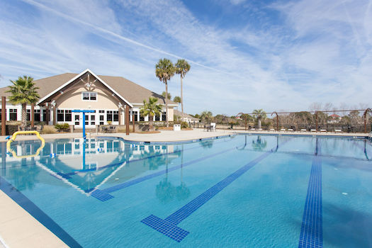 community pool at charleston coast resort