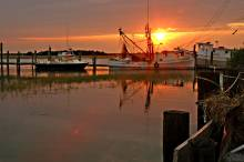 A view of a Charleston harbor