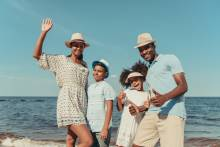 A family enjoys spring break in Isle of Palms